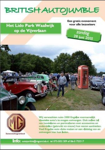BRITISH AUTOJUMBLE in het Lido Park te Waalwijk