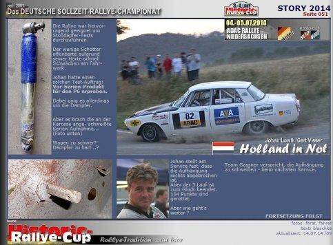 Classic Rover Rally Team valt uit in Niedersachsen